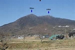 ①往きのバスから筑波山遠望